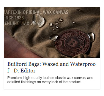 builford bags waxed and waterproof