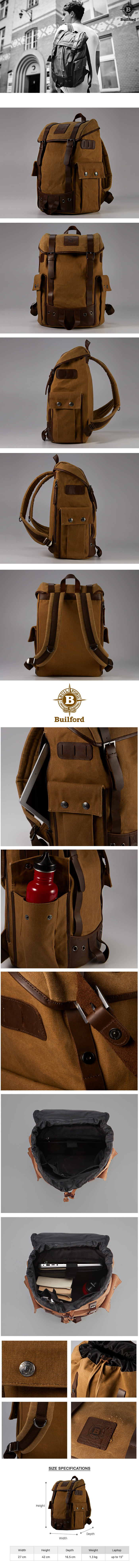 빌포드(BUILFORD) Ranger Backpack (택1)