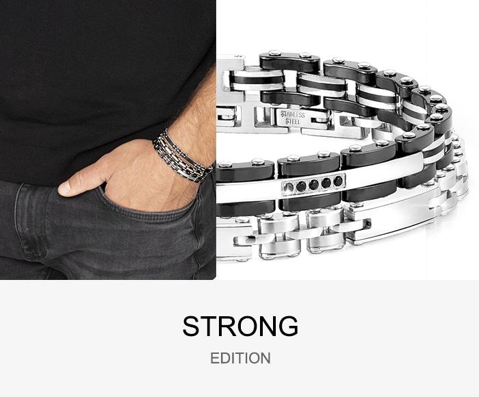 노미네이션(NOMINATION) 팔찌 스트롱 STRONG Men bracelet 큐빅 (Mixed 3) 028301/005